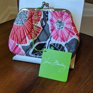 Vera Bradley Cheery Blossoms Kiss Kiss Coin Purse